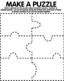 puzzle cut out template make a puzzle coloring page crayola