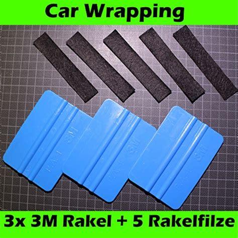 3m Autofolie Reinigen by 3 X 3m Rakel Blau 5 Ersatzfilze Filzkante Rakelfilz Car