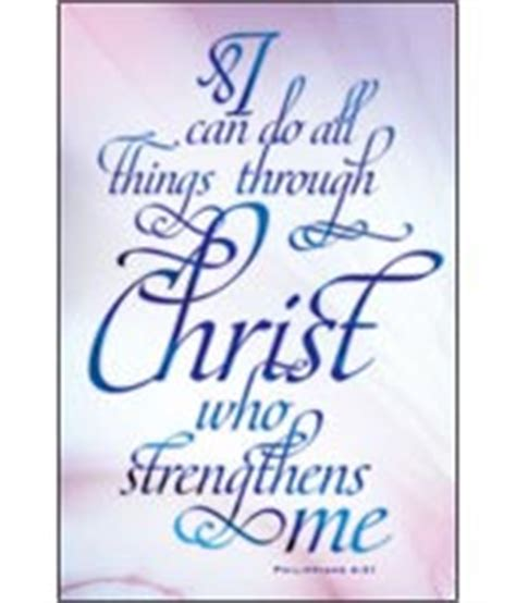 full color church bulletin i can do all things through christ