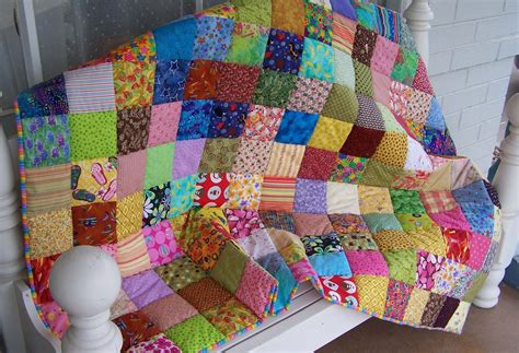 Colourful Patchwork Quilt by Treasures N Textures A Colorful Patchwork Quilt For