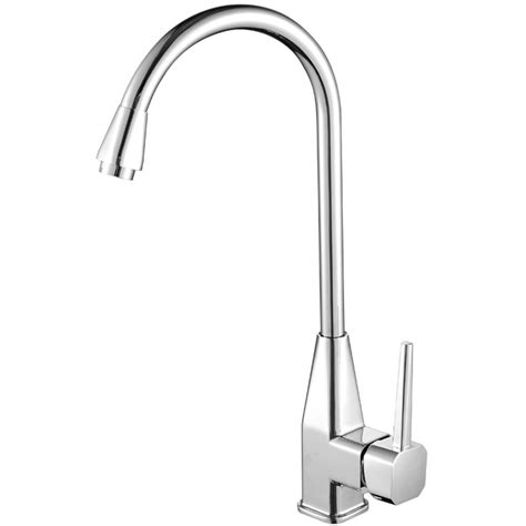 cheap kitchen faucets gooseneck shaped single handle silver