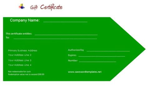 professional gift certificate template 12 best images about gift certificate template on