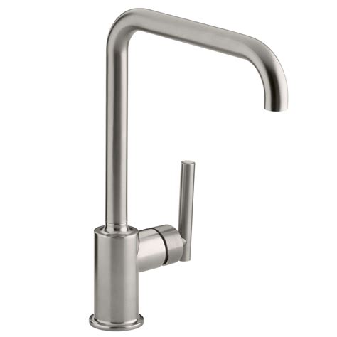 brushed steel kitchen sink kohler purist brushed steel tap kitchen sinks taps