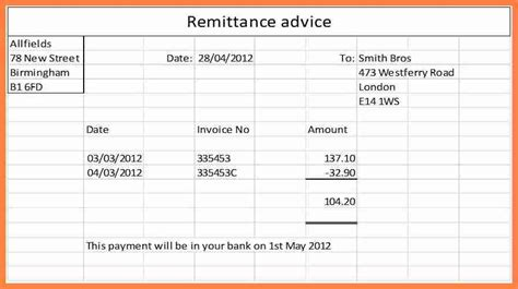 9 sle remittance advice slip salary slip