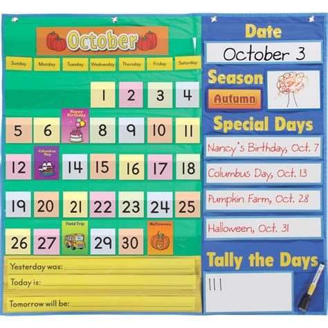 how to make a pocket calendar today s calendar pocket chart