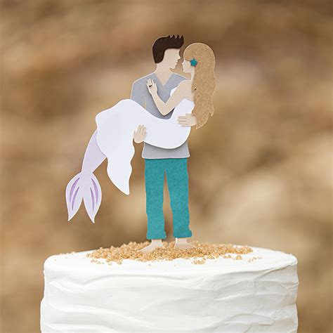 Paper Decorations To Make At Home you have to see this diy mermaid man wedding cake topper