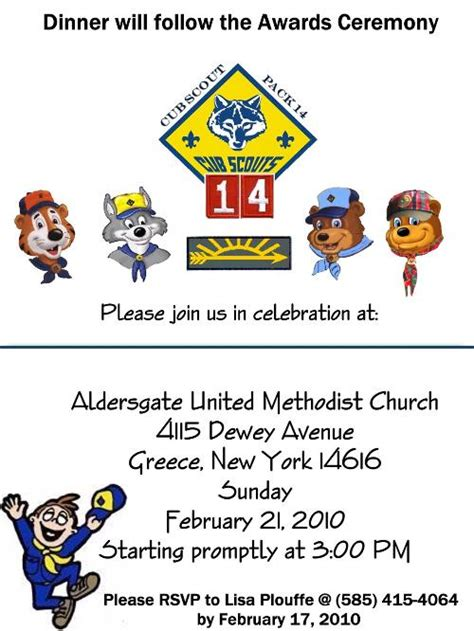 cub scout blue and gold program template best photos of arrow of light program template cub scout