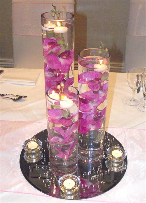 Vase Centrepieces by Couture Events Centre Pieces Chair Cover Hire Sash