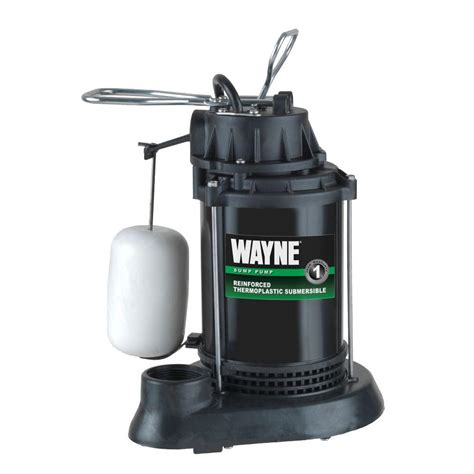 wayne 1 2 hp thermoplastic sump spf50 the home depot