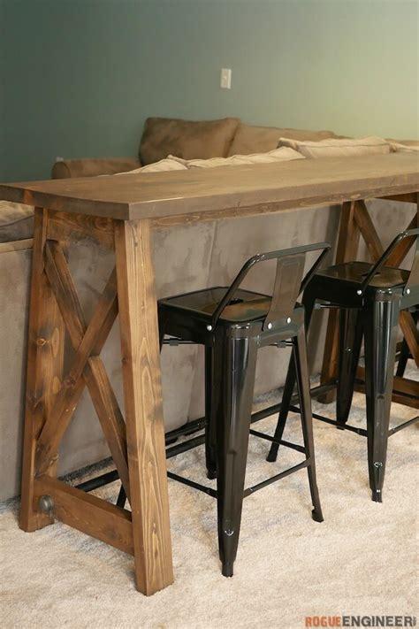 diy sofa table bar bar top console table 187 rogue engineer