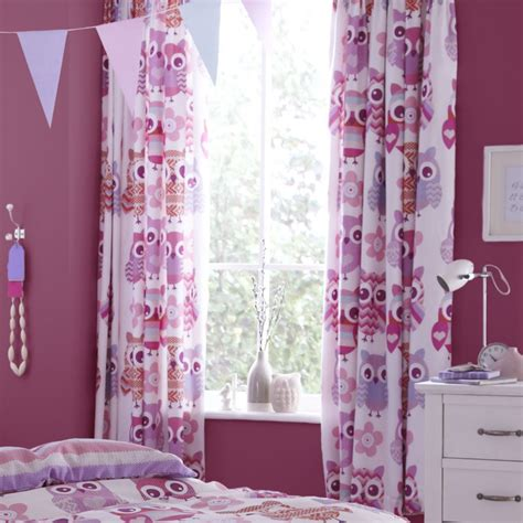 owl curtains for bedroom kids curtains liven up the nursery with fun patterns