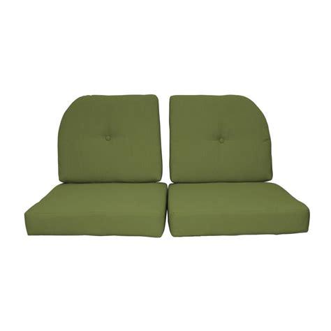 sunbrella loveseat cushions paradise cushions sunbrella kiwi 4 piece outdoor loveseat