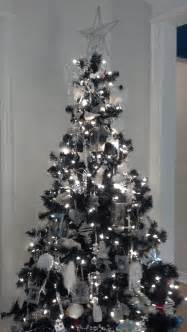 white and silver christmas tree just decorate