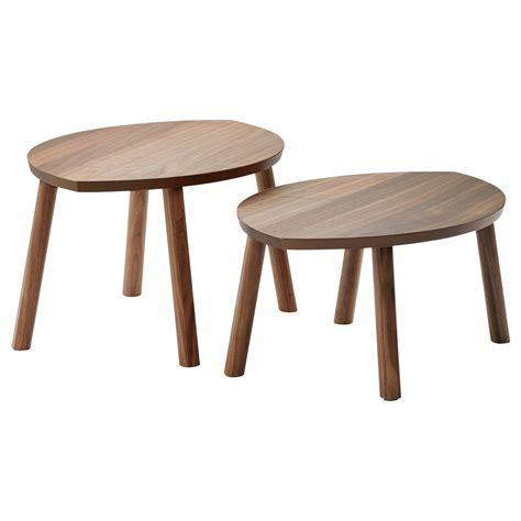 ikea bench table stockholm nest of tables set of 2 walnut veneer ikea