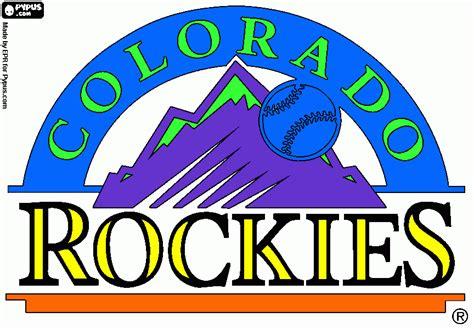 colorado rockies colors colorado rockie coloring page printable colorado rockie