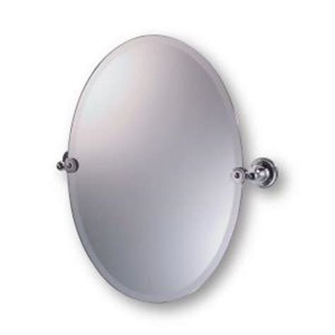 oval pivot bathroom mirror moderno diviana 20 in x 24 in oval pivot mirror in
