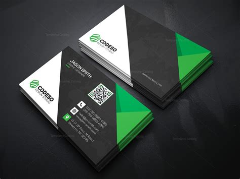 Technology Business Card Templates by Technology Business Card Design 000369 Template Catalog