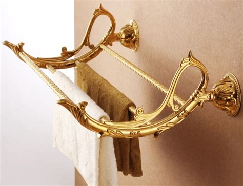 gold towel rack free shipping bathroom towel holder gold towel rack towel holder towel shelf golden color gb008b