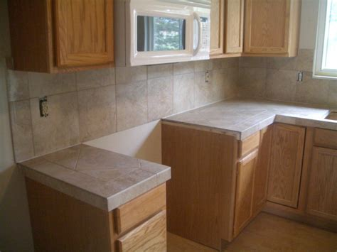 ceramic tile kitchen countertops and backsplash