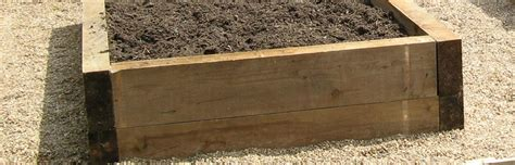Sleeper Vegetable Garden by Why Build A Raised Bed With Railway Sleepers