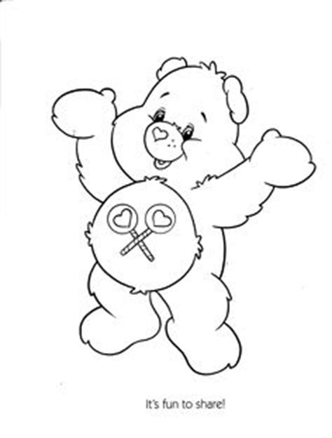 share bear coloring page 1000 images about care bear share bear 4 on pinterest