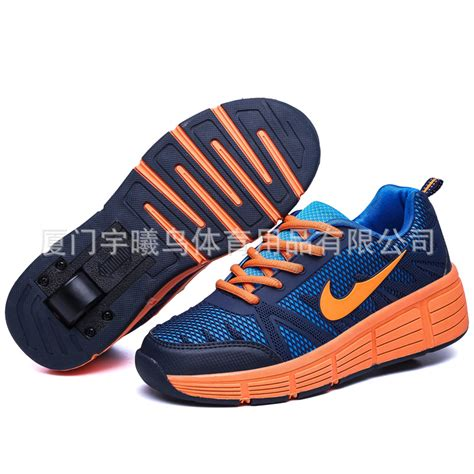 shoes with rollers 2016 children heelys breathable single wheel roller shoes