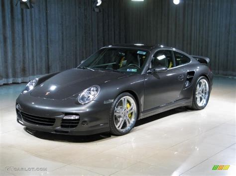 grey porsche 911 turbo 2007 slate grey metallic porsche 911 turbo coupe 25964456