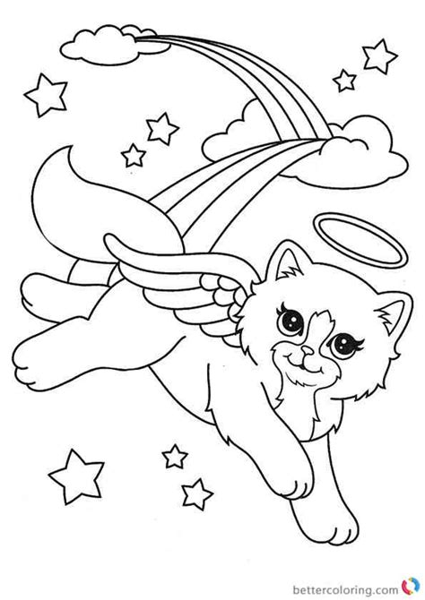 angel kitty coloring pages christmas cat coloring pages angel cat coloring page