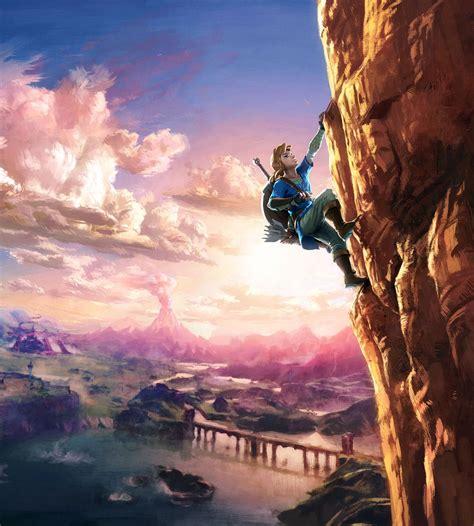 imagenes de link wallpaper link climbing up cliff characters art the legend of