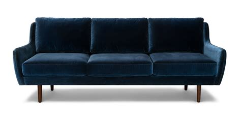 blue sofa and loveseat matrix cascadia blue sofa sofas article modern mid