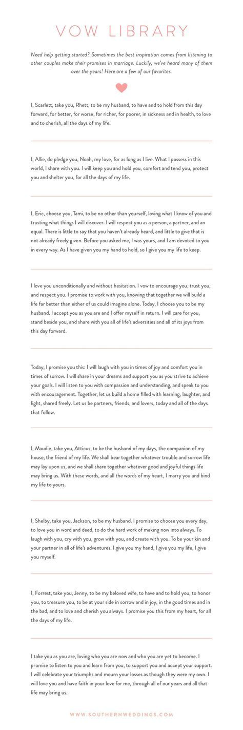 Best 25  Wedding vows examples ideas on Pinterest