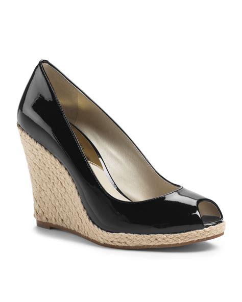 Muchael Kors B698 7 Wedges Shoes michael kors michael keegan wedge in black lyst