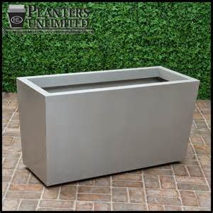 modern tapered planter on wheels