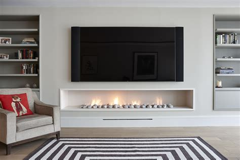 In The Wall Fireplaces by In The Wall Gas Fireplace Modern Style