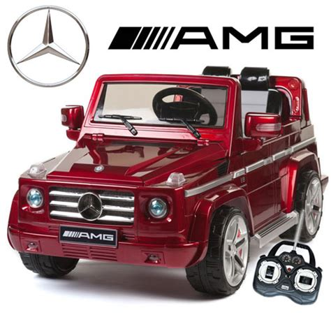 jeep kid official red mercedes amg g55 premium kids 12v jeep 163 279
