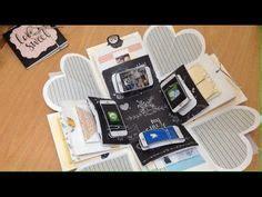 explosion box anniversary tutorial diy handmade gift for boyfriend explosion box