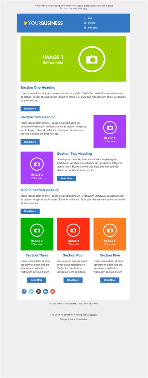 responsive email template 5 email marketing data