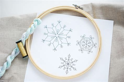 snowflake hand embroidery patterns