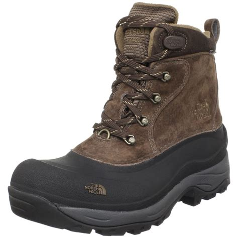 northface boots the mens chilkats insulated boot in brown for