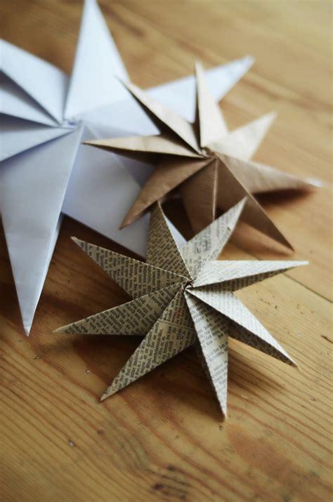 handmade origami weihnachtsdeko selber basteln aus papier mit anleitung