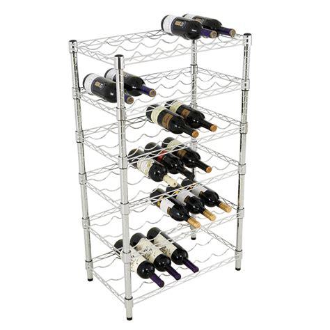 Chrome Storage Rack by Chrome Value Wine Rack Shelving 6 Levels Holds 36