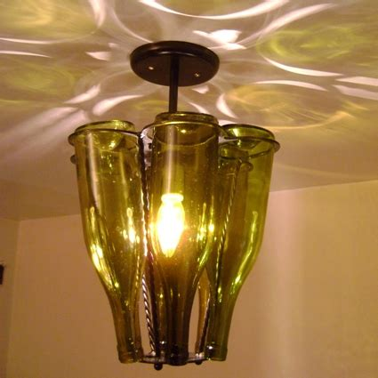 Wine Bottle Light Fixtures Wine Bottle Light Fixture Innovative Use Of These Bottles Light Decorating Ideas