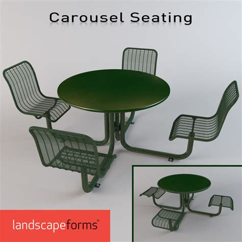 Landscape Forms Carousel 3d Model Dining Carousel Seating