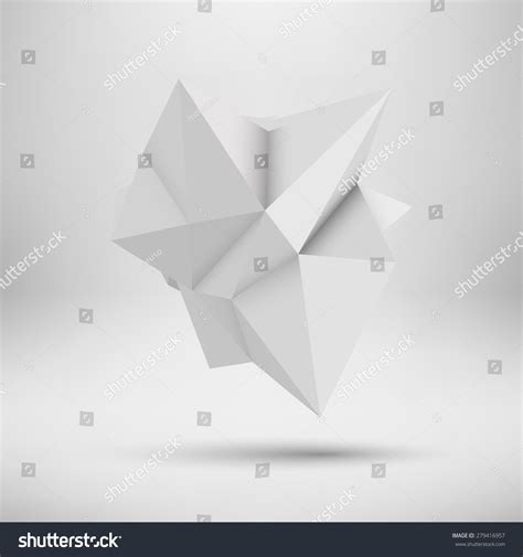 White Low Poly white abstract shape lowpoly polygonal triangular stock