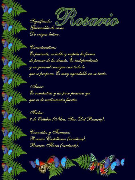 significado del nombre rosario origen nombres de nio rosario significado de tu nombre