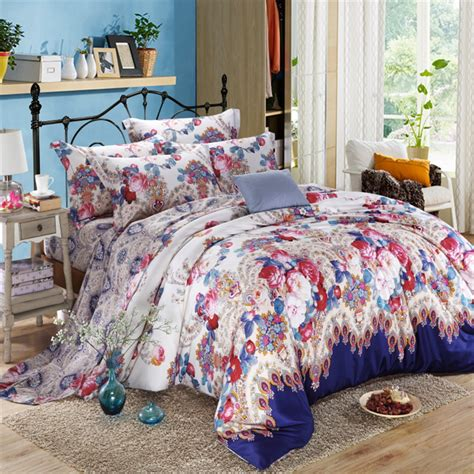 floral bed sets unique 100 long staple cotton comforter bedding set queen