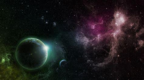 wallpaper galaxy green 1920x1080 purple green galaxy planets desktop pc and mac