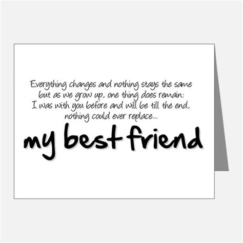 thank you letter to best friend best friend thank you cards best friend note cards