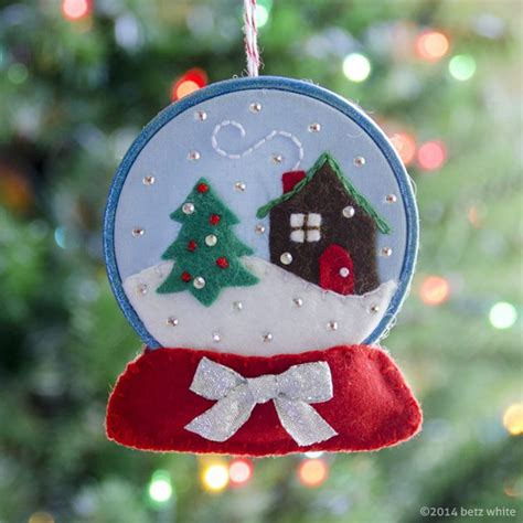 patterns making christmas decorations holiday stitch along ornament 2 snow globe betz white