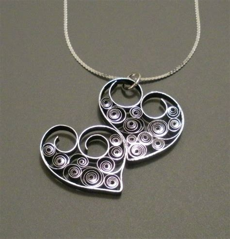 How To Make Paper Necklace - two hearts as one quilled necklace by all things paper